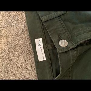 Loft - Size 29/8 - Green Skinny Jeans